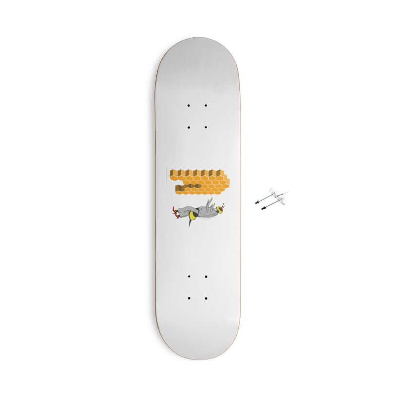 Busy Bee Accessories With Hanging Hardware Skateboard by Every Drop's An Idea's Artist Shop