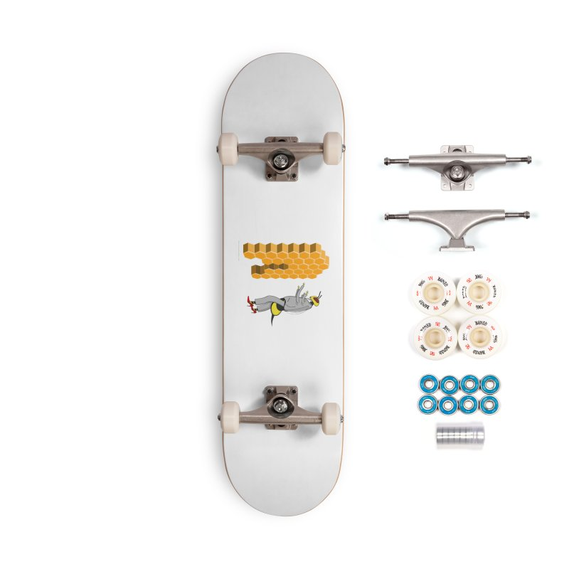 Busy Bee Accessories Complete - Premium Skateboard by Every Drop's An Idea's Artist Shop