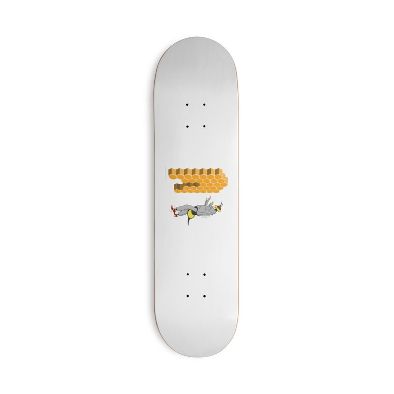 Busy Bee Accessories Deck Only Skateboard by Every Drop's An Idea's Artist Shop