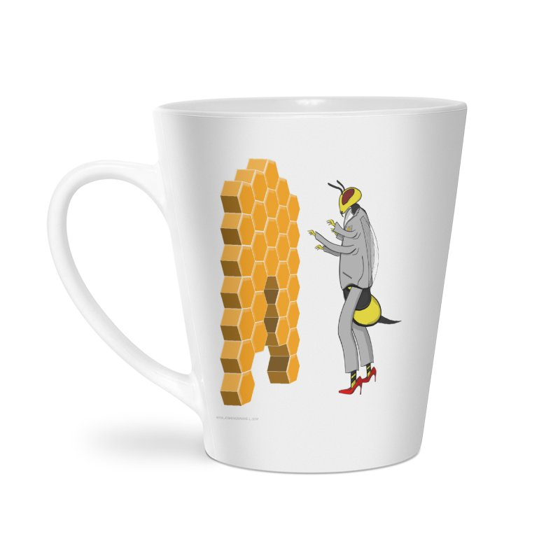 Busy Bee Accessories Latte Mug by Every Drop's An Idea's Artist Shop