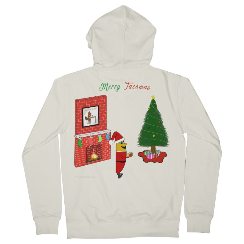 Merry Tacomas Men's French Terry Zip-Up Hoody by Every Drop's An Idea's Artist Shop