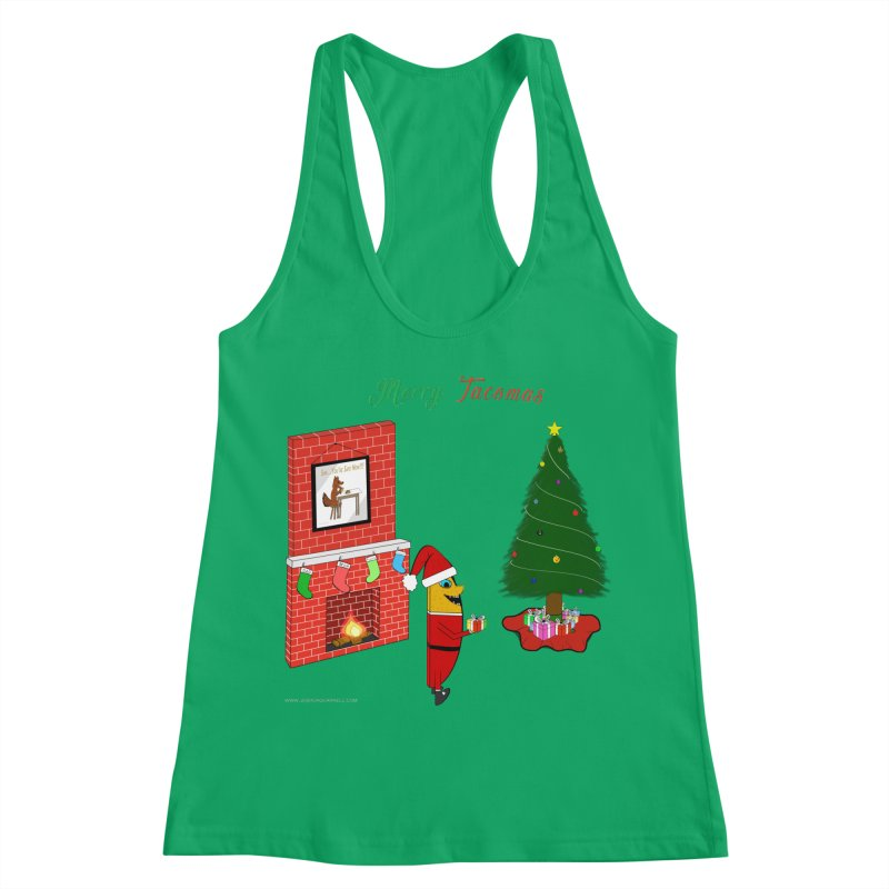 Merry Tacomas Women's Racerback Tank by Every Drop's An Idea's Artist Shop