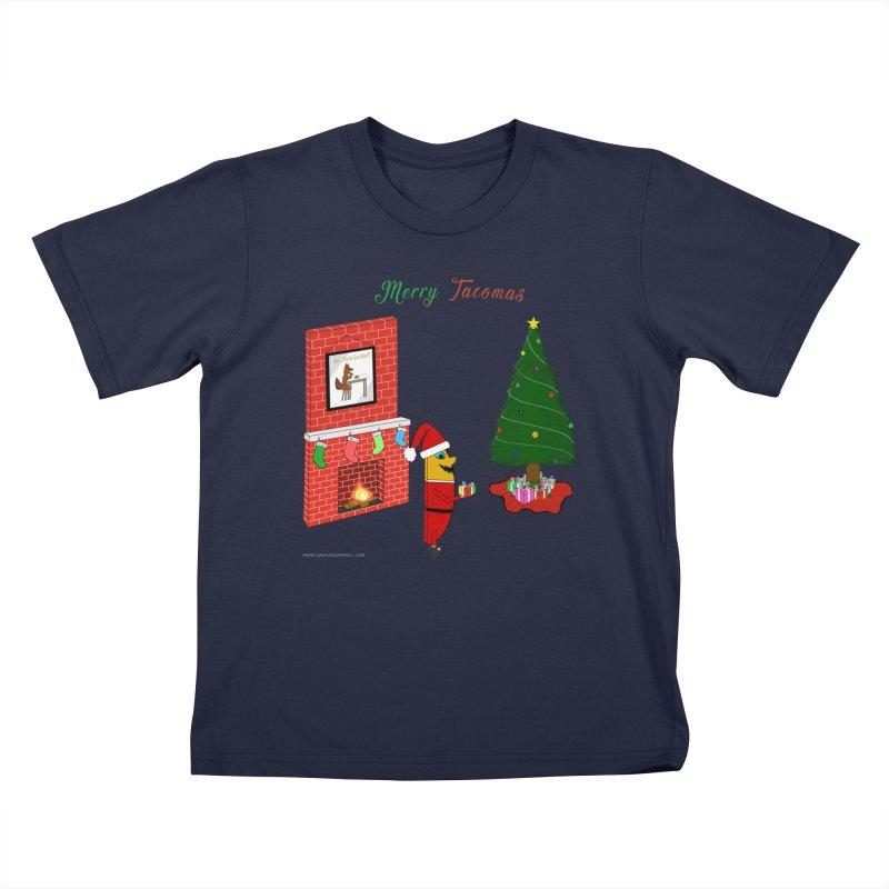 Merry Tacomas Kids T-Shirt by Every Drop's An Idea's Artist Shop
