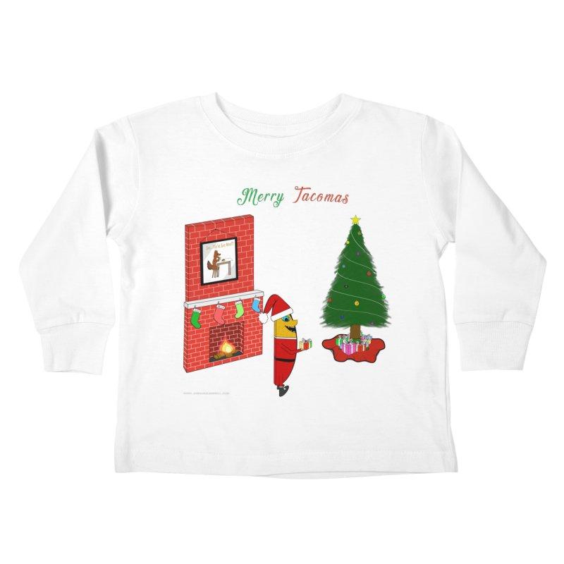 Merry Tacomas Kids Toddler Longsleeve T-Shirt by Every Drop's An Idea's Artist Shop