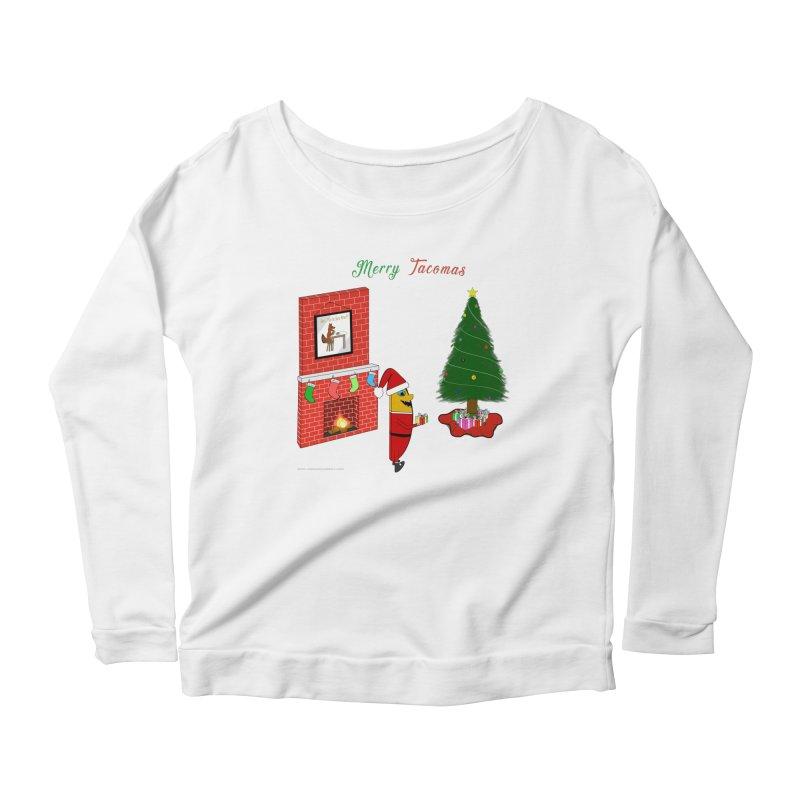 Merry Tacomas Women's Scoop Neck Longsleeve T-Shirt by Every Drop's An Idea's Artist Shop