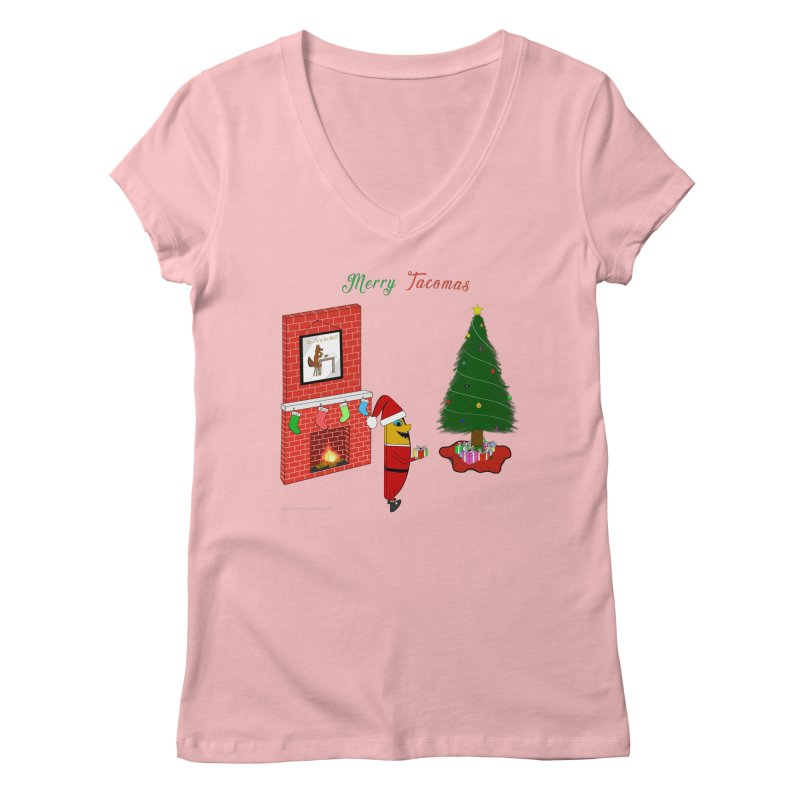 Merry Tacomas Women's Regular V-Neck by Every Drop's An Idea's Artist Shop