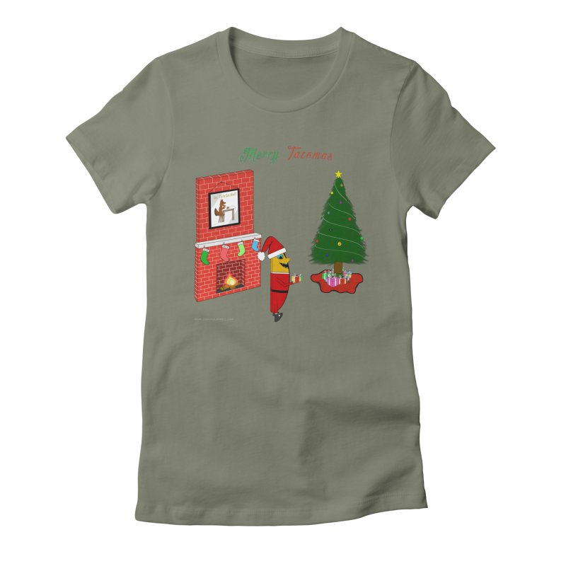 Merry Tacomas Women's Fitted T-Shirt by Every Drop's An Idea's Artist Shop