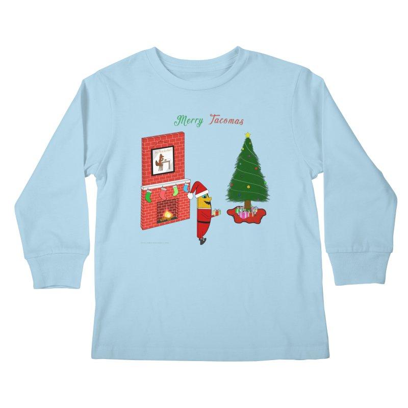 Merry Tacomas Kids Longsleeve T-Shirt by Every Drop's An Idea's Artist Shop