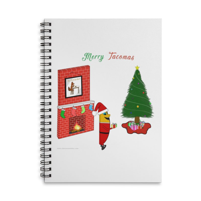 Merry Tacomas Accessories Lined Spiral Notebook by Every Drop's An Idea's Artist Shop