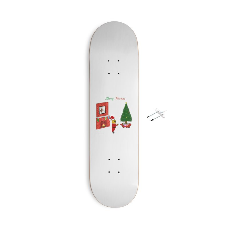 Merry Tacomas Accessories With Hanging Hardware Skateboard by Every Drop's An Idea's Artist Shop