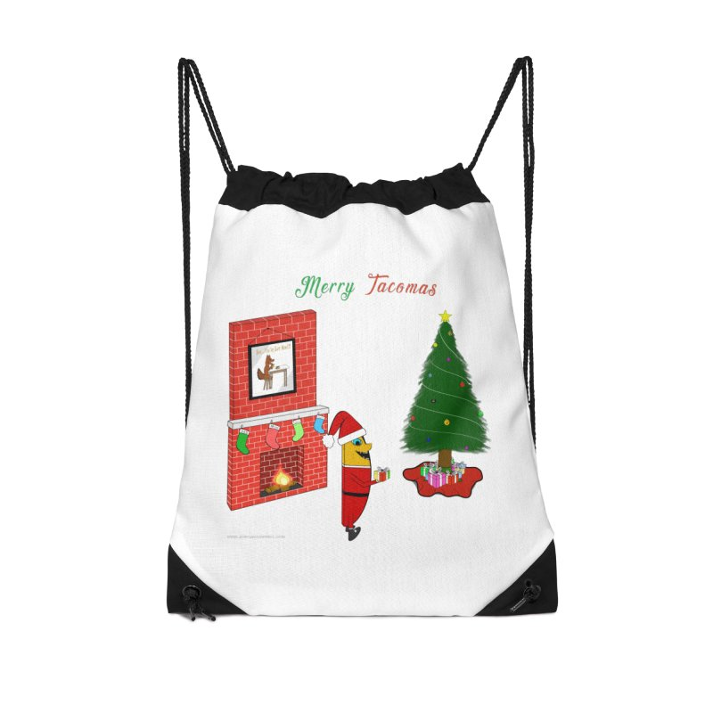 Merry Tacomas Accessories Drawstring Bag Bag by Every Drop's An Idea's Artist Shop