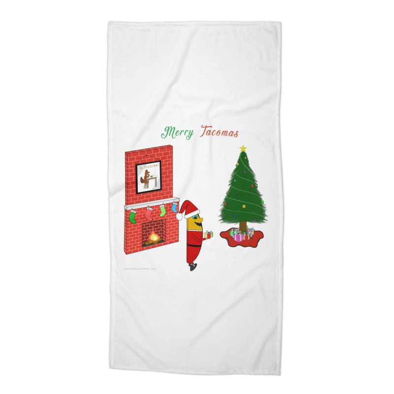 Merry Tacomas Accessories Beach Towel by Every Drop's An Idea's Artist Shop