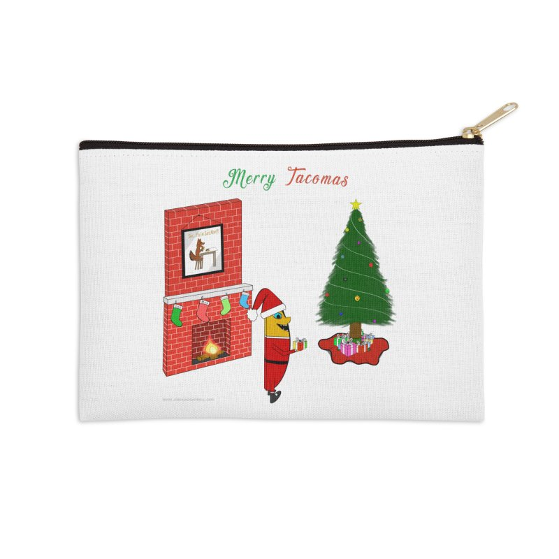 Merry Tacomas Accessories Zip Pouch by Every Drop's An Idea's Artist Shop