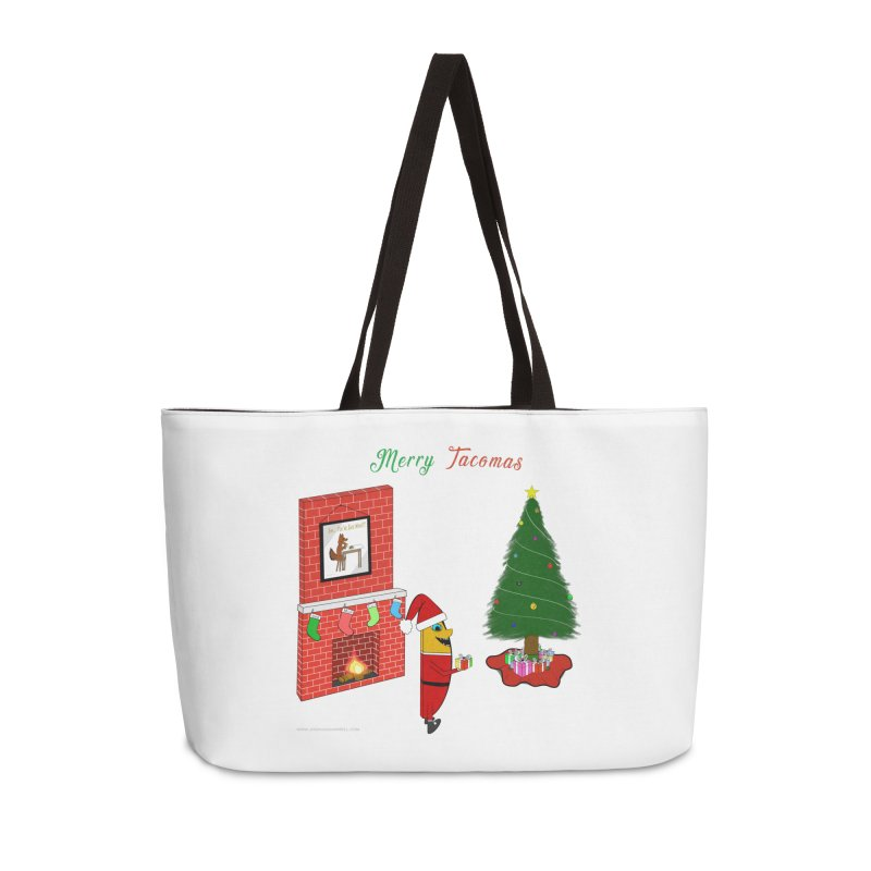 Merry Tacomas Accessories Weekender Bag Bag by Every Drop's An Idea's Artist Shop