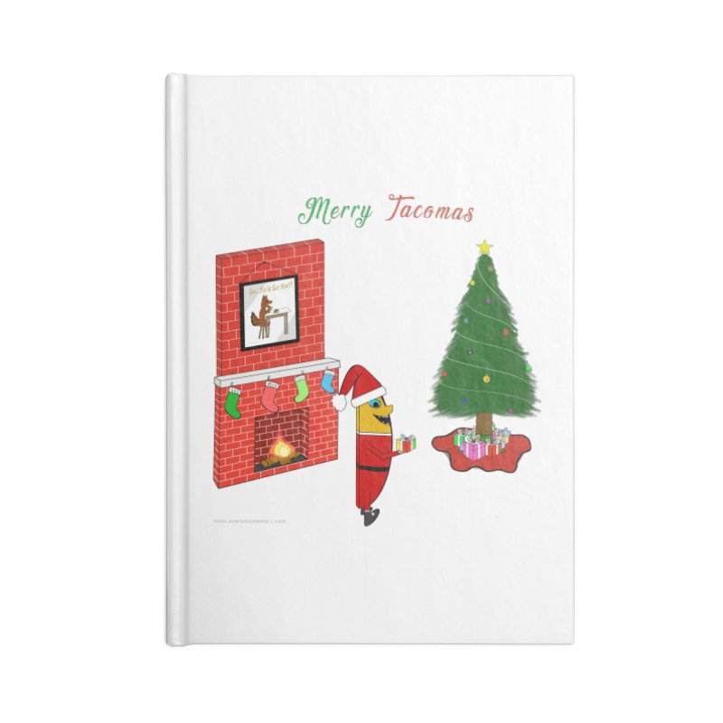 Merry Tacomas Accessories Lined Journal Notebook by Every Drop's An Idea's Artist Shop