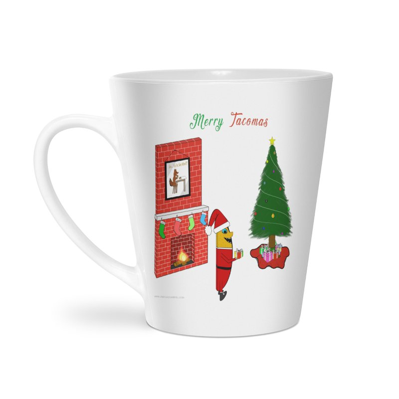 Merry Tacomas Accessories Latte Mug by Every Drop's An Idea's Artist Shop