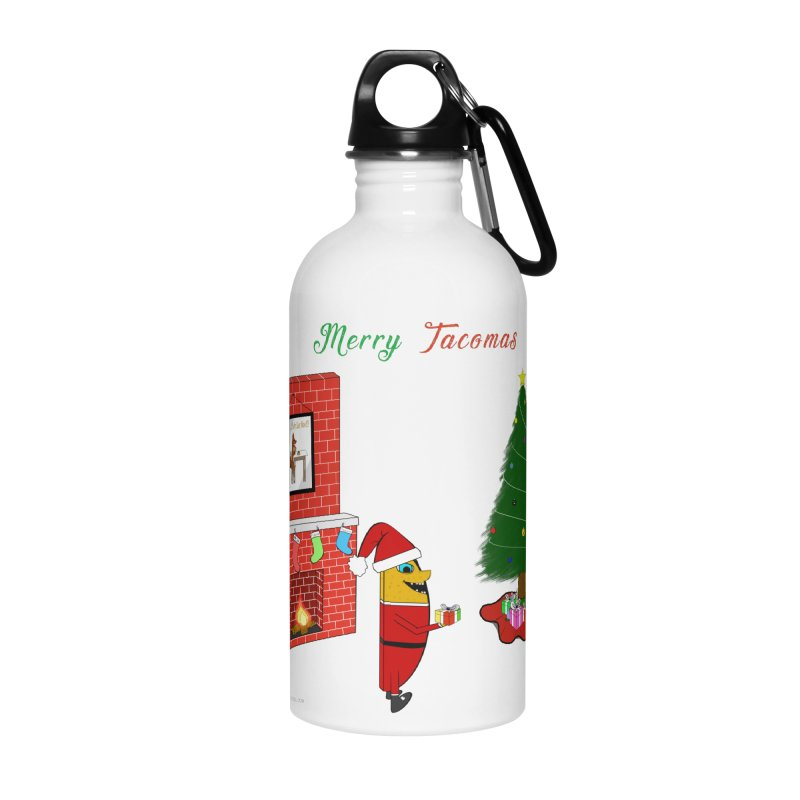 Merry Tacomas Accessories Water Bottle by Every Drop's An Idea's Artist Shop