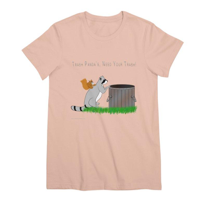 Ride Into The Trash Women's Premium T-Shirt by Every Drop's An Idea's Artist Shop