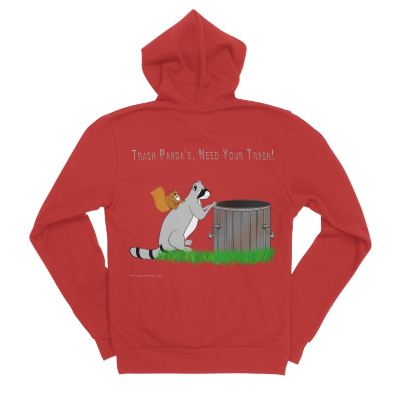 Ride Into The Trash Women's Zip-Up Hoody by Every Drop's An Idea's Artist Shop