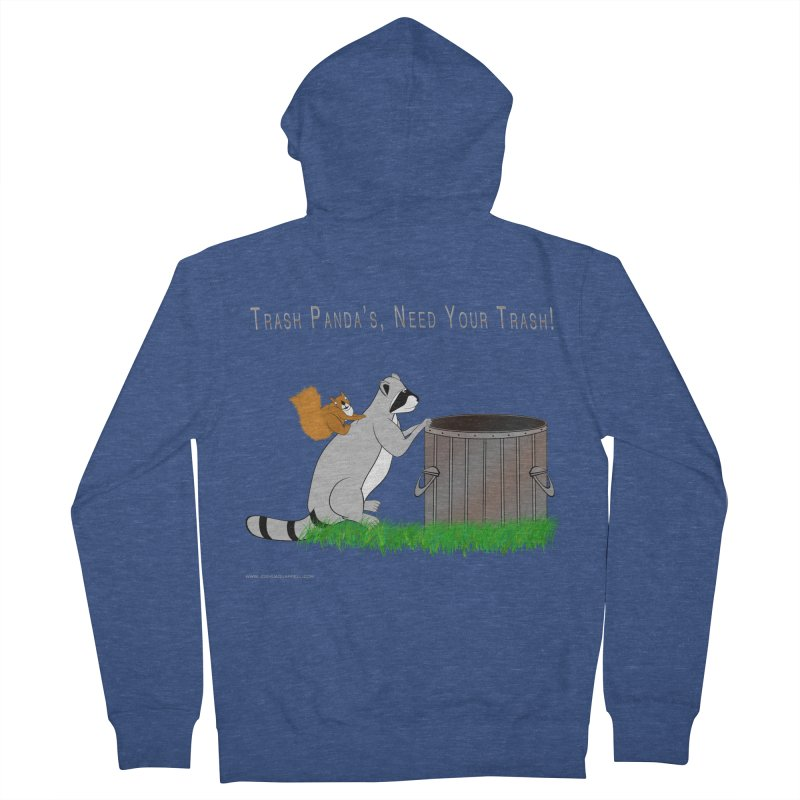 Ride Into The Trash Women's French Terry Zip-Up Hoody by Every Drop's An Idea's Artist Shop