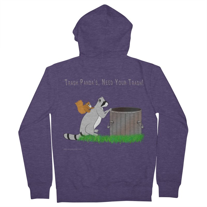 Ride Into The Trash Men's French Terry Zip-Up Hoody by Every Drop's An Idea's Artist Shop