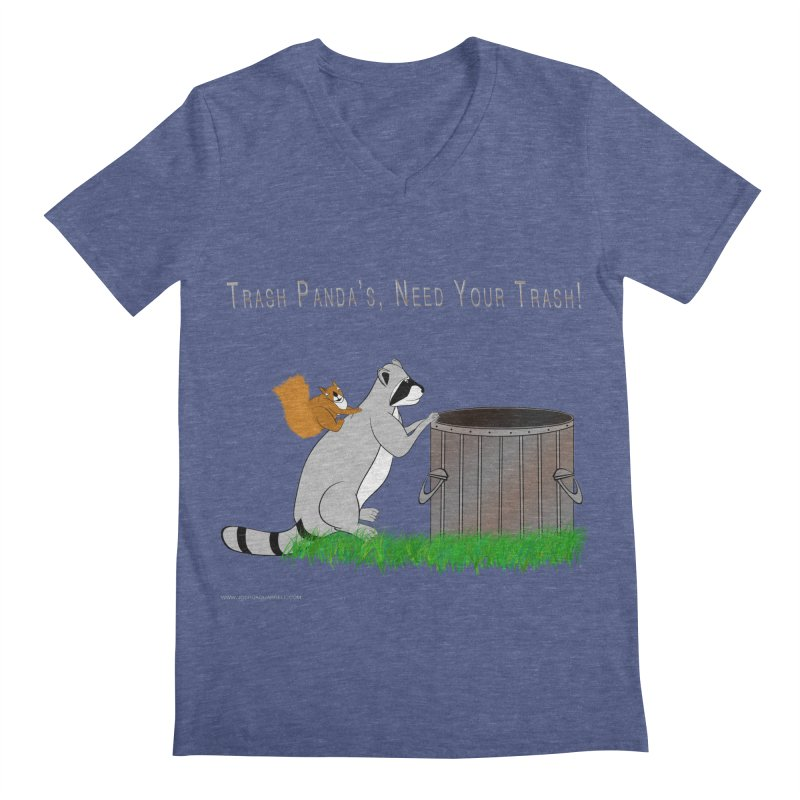 Ride Into The Trash Men's Regular V-Neck by Every Drop's An Idea's Artist Shop