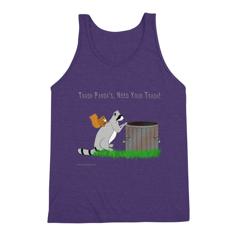 Ride Into The Trash Men's Triblend Tank by Every Drop's An Idea's Artist Shop