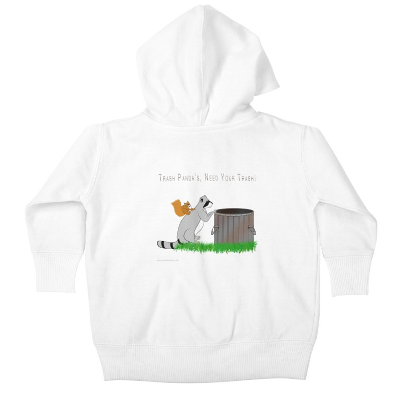 Ride Into The Trash Kids Baby Zip-Up Hoody by Every Drop's An Idea's Artist Shop