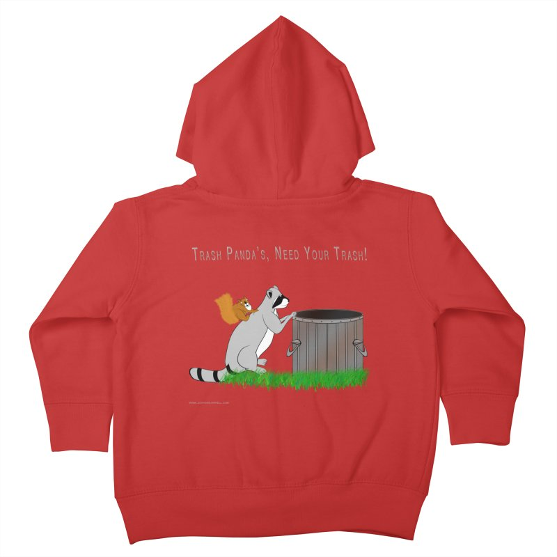 Ride Into The Trash Kids Toddler Zip-Up Hoody by Every Drop's An Idea's Artist Shop