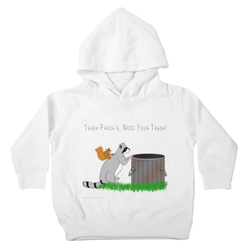 Ride Into The Trash Kids Toddler Pullover Hoody by Every Drop's An Idea's Artist Shop
