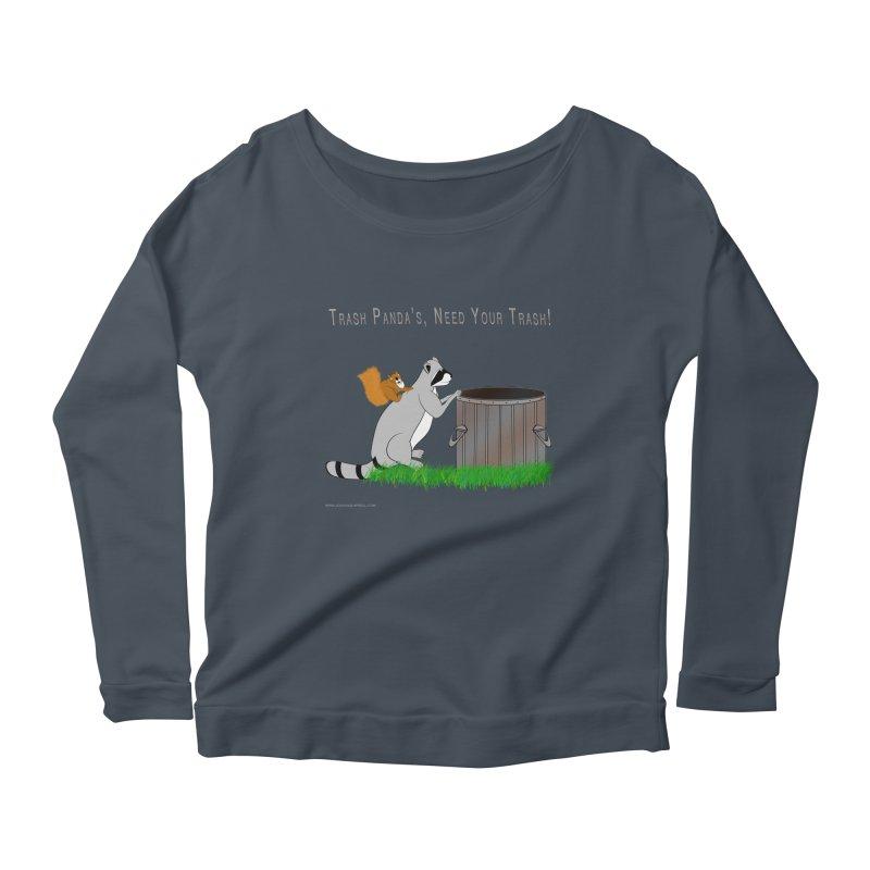 Ride Into The Trash Women's Scoop Neck Longsleeve T-Shirt by Every Drop's An Idea's Artist Shop