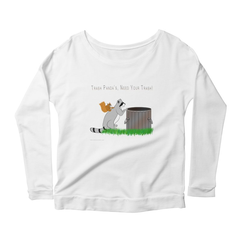Ride Into The Trash Women's Scoop Neck Longsleeve T-Shirt by Every Drop's An Idea's Artist Shop