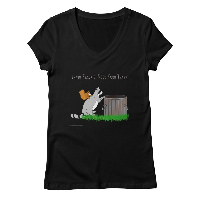Ride Into The Trash Women's V-Neck by Every Drop's An Idea's Artist Shop