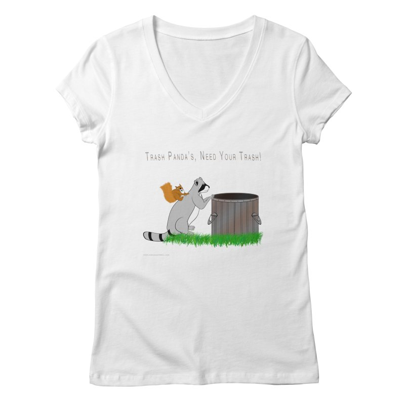 Ride Into The Trash Women's Regular V-Neck by Every Drop's An Idea's Artist Shop