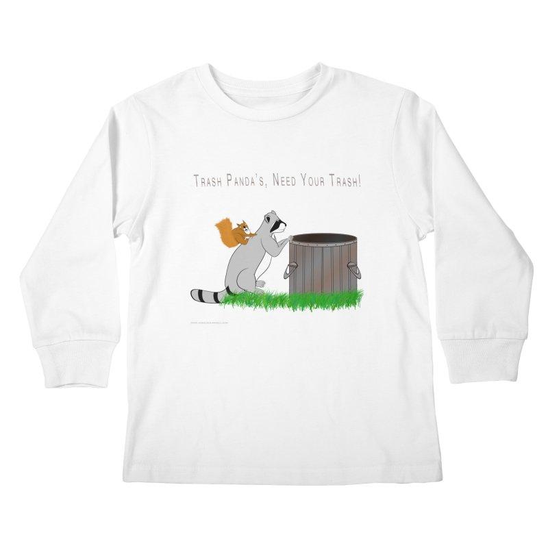 Ride Into The Trash Kids Longsleeve T-Shirt by Every Drop's An Idea's Artist Shop