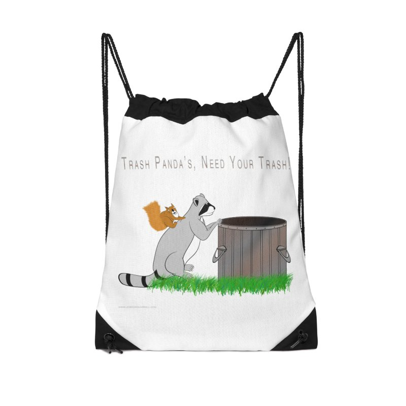 Ride Into The Trash Accessories Drawstring Bag Bag by Every Drop's An Idea's Artist Shop
