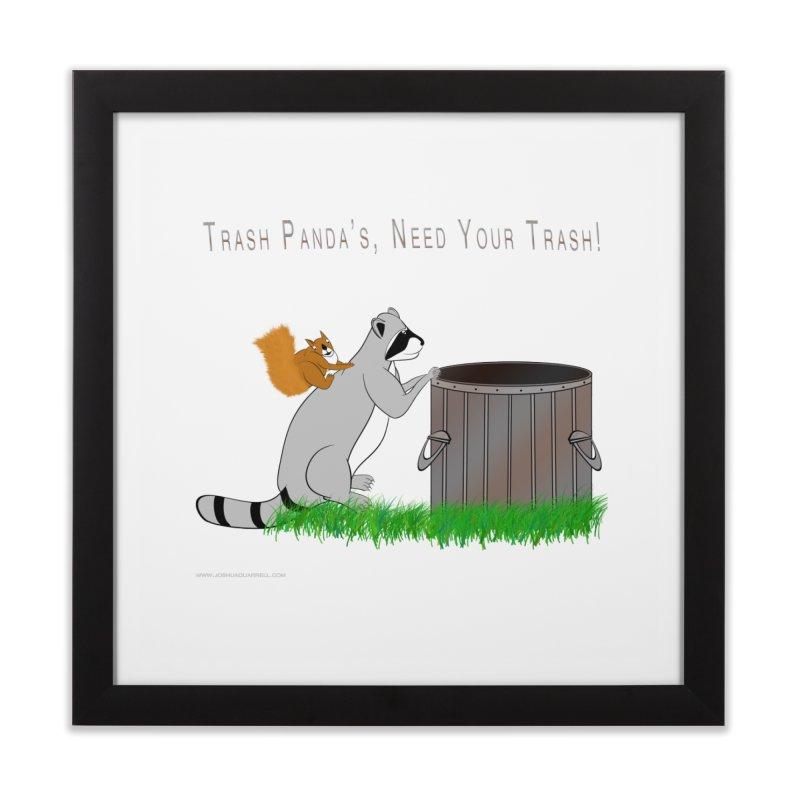 Ride Into The Trash Home Framed Fine Art Print by Every Drop's An Idea's Artist Shop
