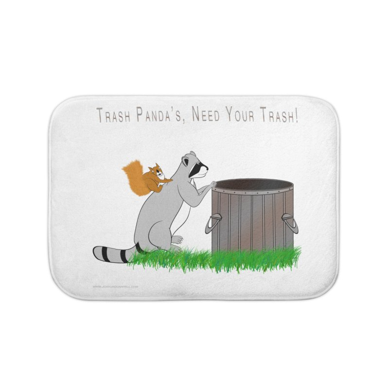 Ride Into The Trash Home Bath Mat by Every Drop's An Idea's Artist Shop