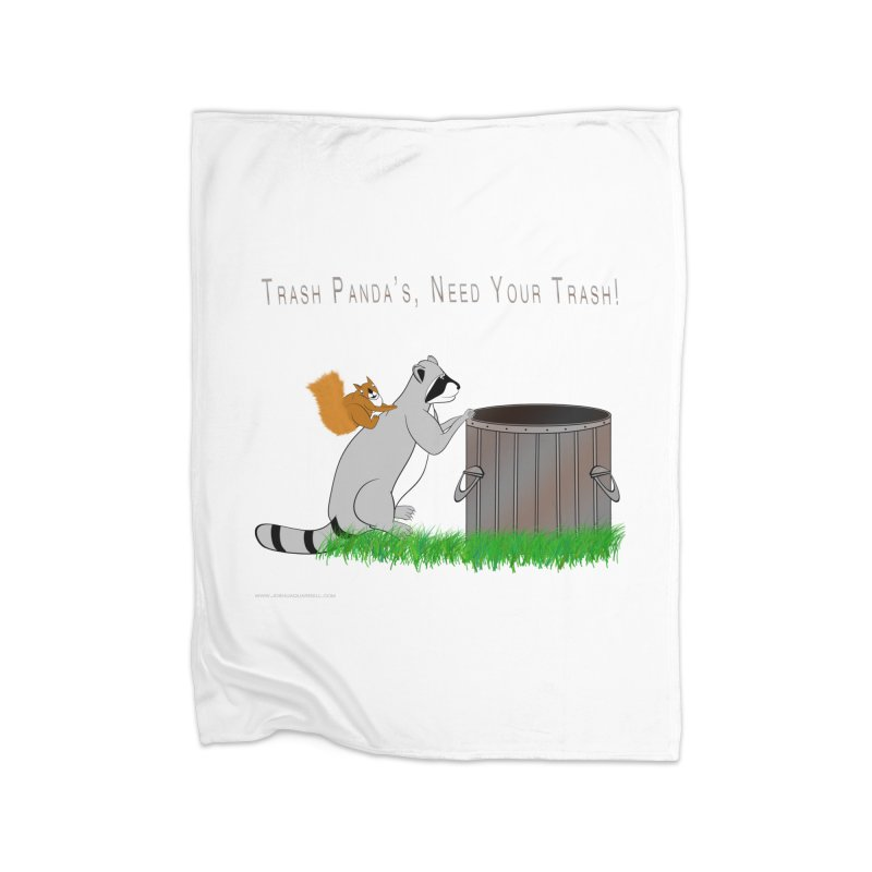 Ride Into The Trash Home Fleece Blanket Blanket by Every Drop's An Idea's Artist Shop