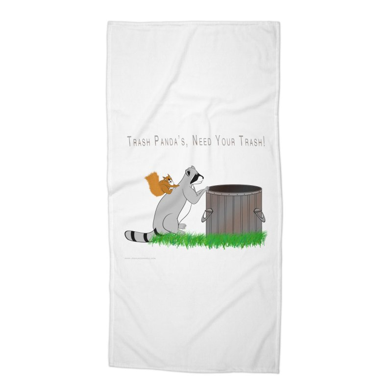 Ride Into The Trash Accessories Beach Towel by Every Drop's An Idea's Artist Shop