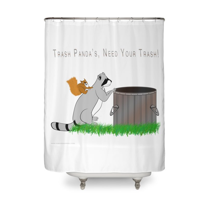 Ride Into The Trash Home Shower Curtain by Every Drop's An Idea's Artist Shop