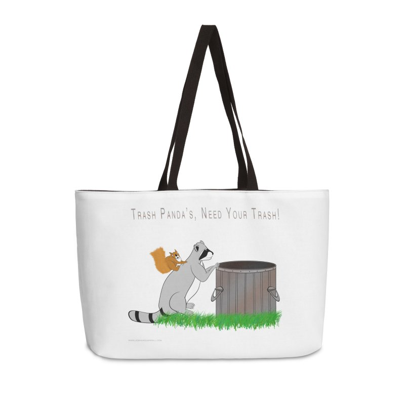 Ride Into The Trash Accessories Weekender Bag Bag by Every Drop's An Idea's Artist Shop