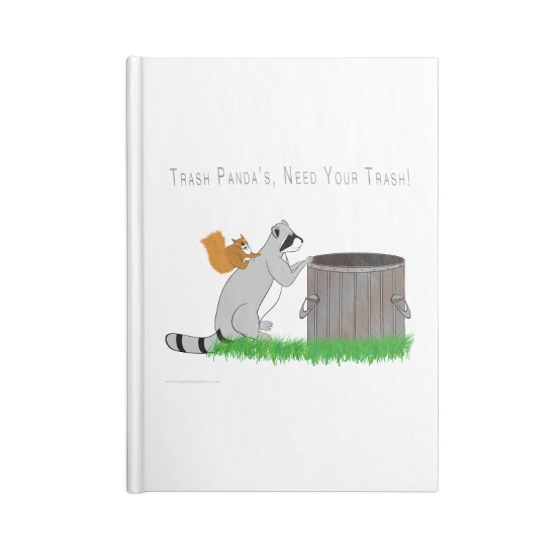 Ride Into The Trash Accessories Lined Journal Notebook by Every Drop's An Idea's Artist Shop