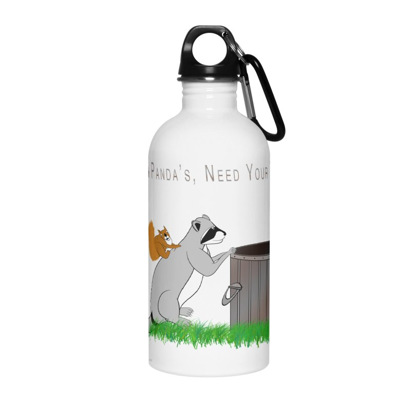 Ride Into The Trash Accessories Water Bottle by Every Drop's An Idea's Artist Shop