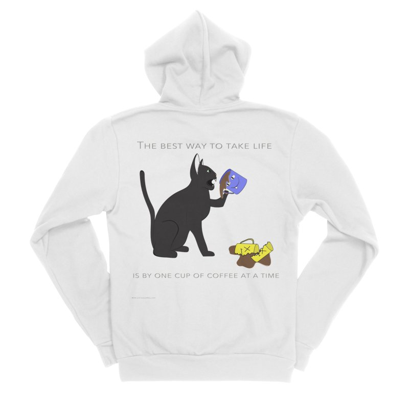 One Cup At A Time Women's Sponge Fleece Zip-Up Hoody by Every Drop's An Idea's Artist Shop