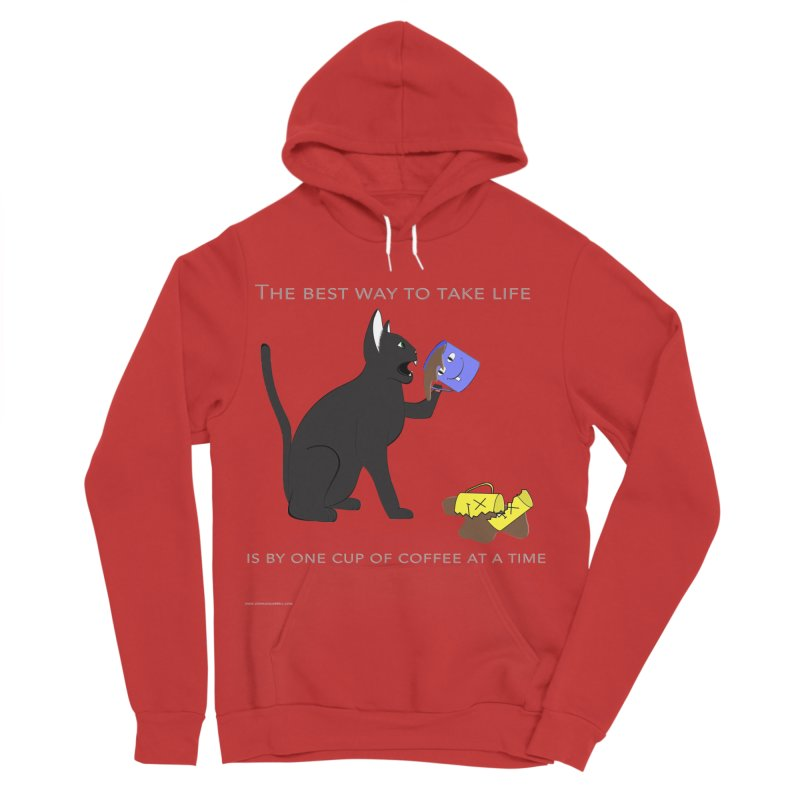 One Cup At A Time Men's Pullover Hoody by Every Drop's An Idea's Artist Shop
