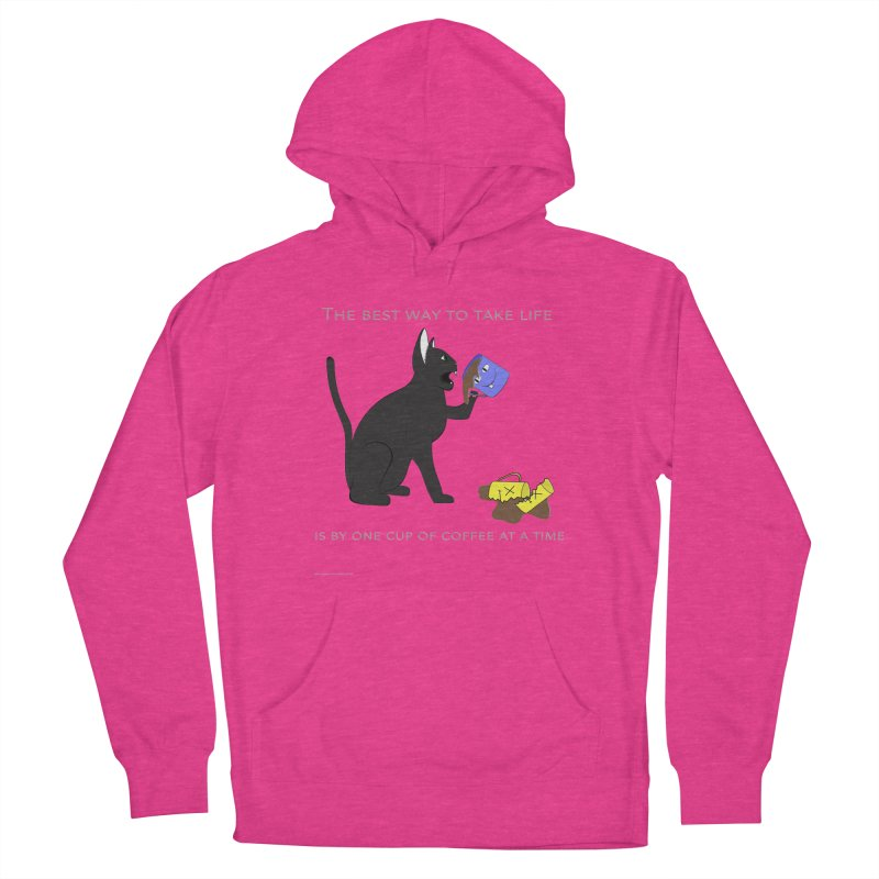 One Cup At A Time Men's French Terry Pullover Hoody by Every Drop's An Idea's Artist Shop