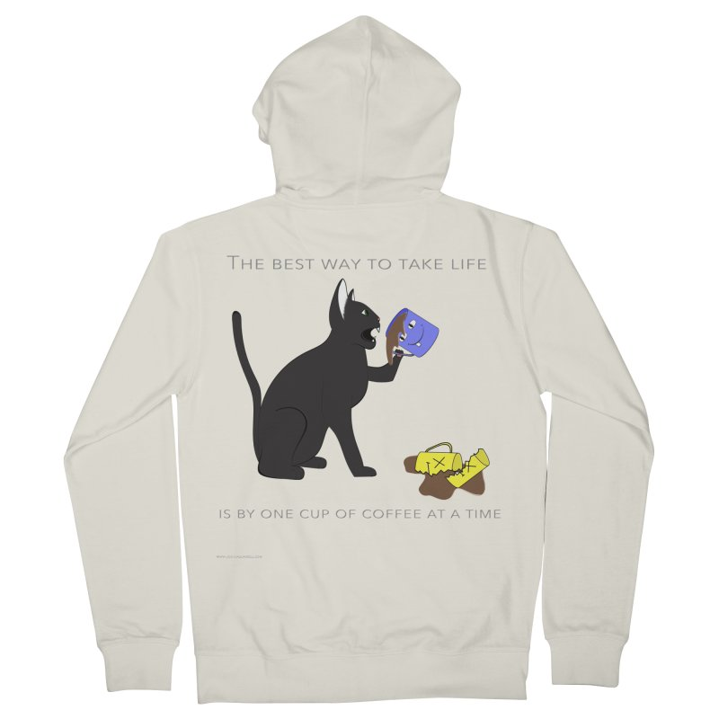 One Cup At A Time Women's French Terry Zip-Up Hoody by Every Drop's An Idea's Artist Shop