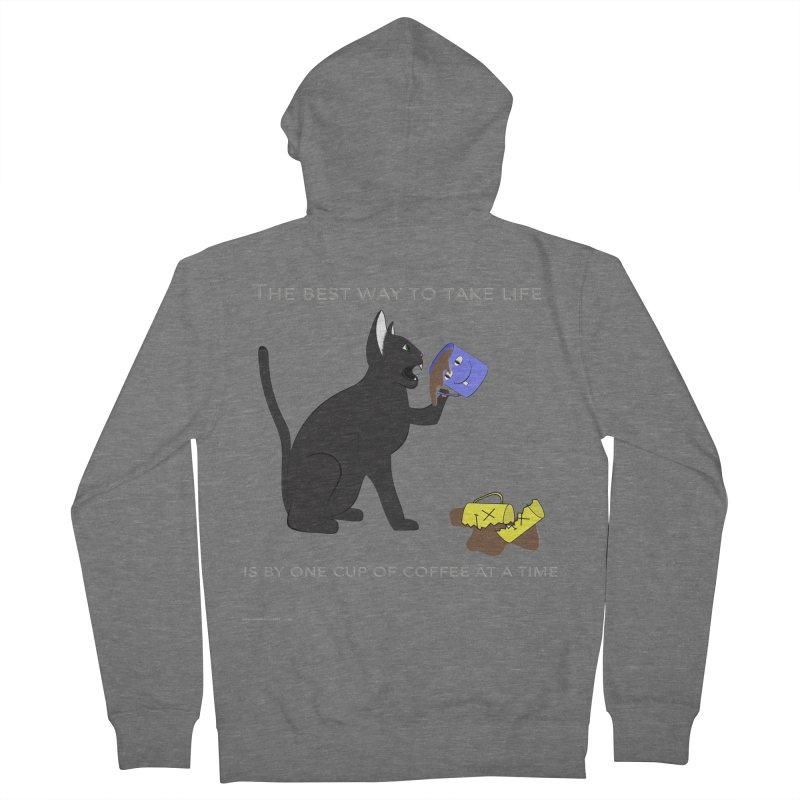One Cup At A Time Men's French Terry Zip-Up Hoody by Every Drop's An Idea's Artist Shop