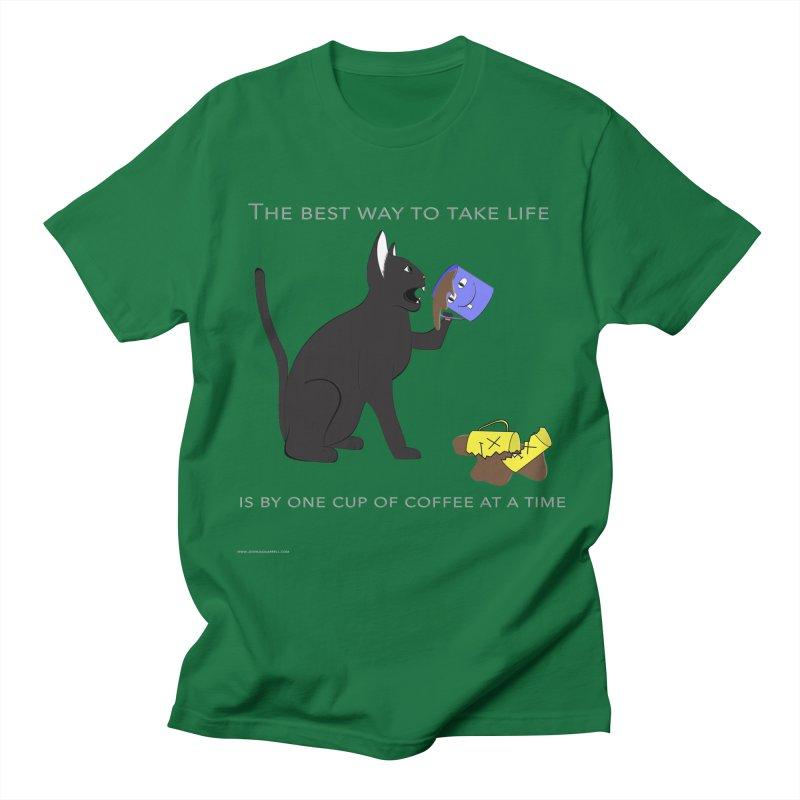 One Cup At A Time Men's Regular T-Shirt by Every Drop's An Idea's Artist Shop